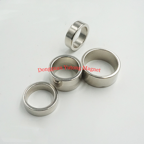 Neodymium Ring Magnets Nickel Plated Permanent Magnets Power