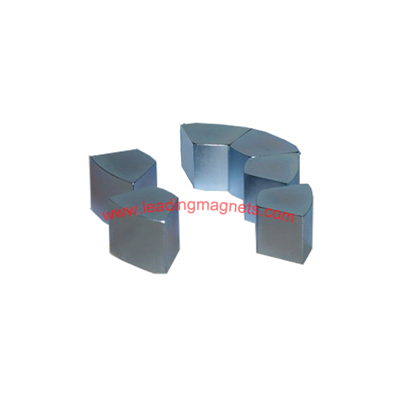 N45H Rare Earth Neodymium Motor Magnets Zinc Plated
