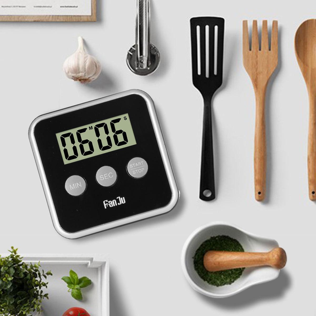 FanJu FJ231 Digital Kitchen Timer, Big Display, Loud Alarm, Magnetic ...