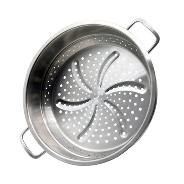 Multiple Use Cookware Pot Tri Ply Stainless Steel Steamer 32cm