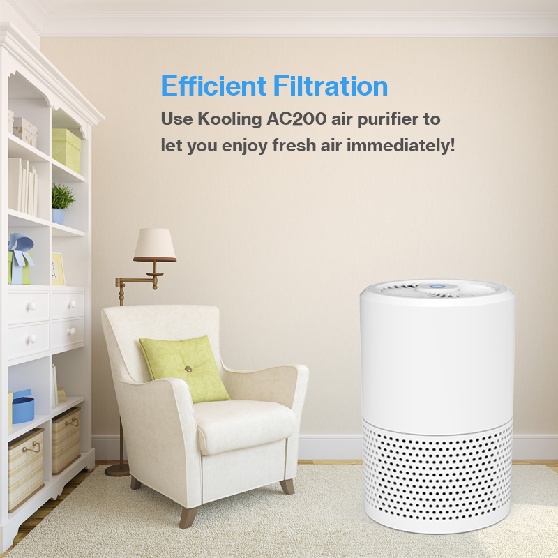 AC200 Purifier with True HEPA Filter, Odor Allergies Elimina