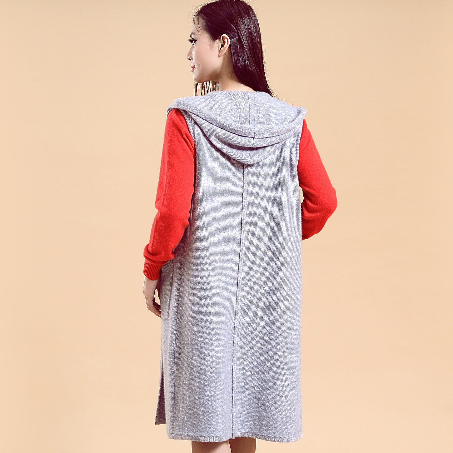 Cashmere sleeveless vest Cardigan sweater