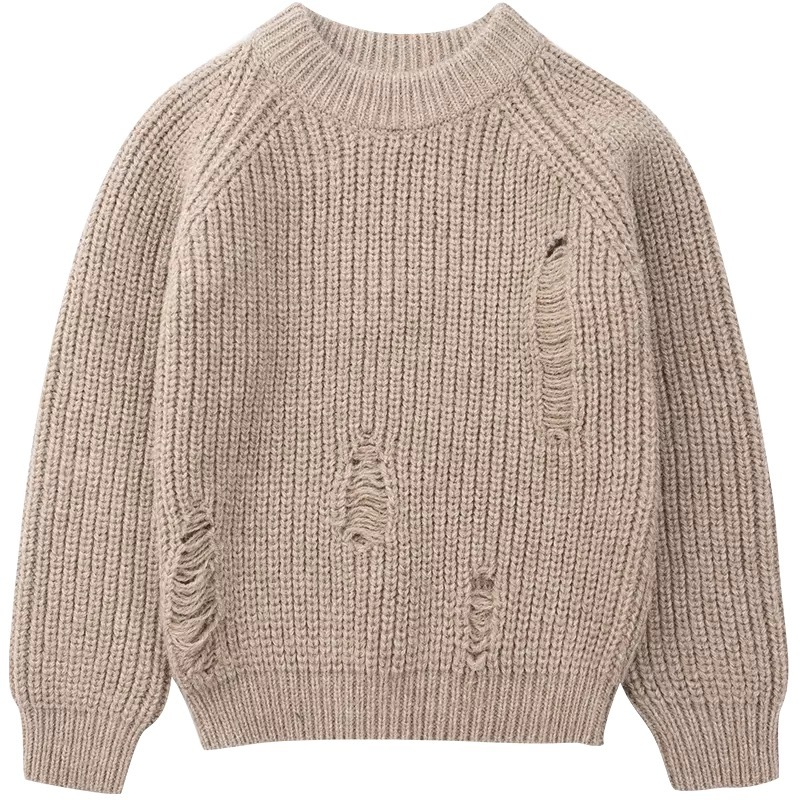 Warmly Acrylic Boy's knitwear Sweater SD6006 thick gauge