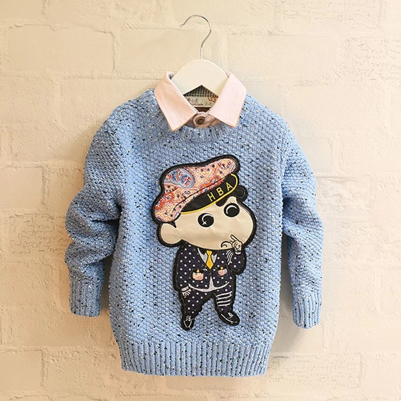Lovely 100%cotton Baby's knitted sweater SD6010 with pattern