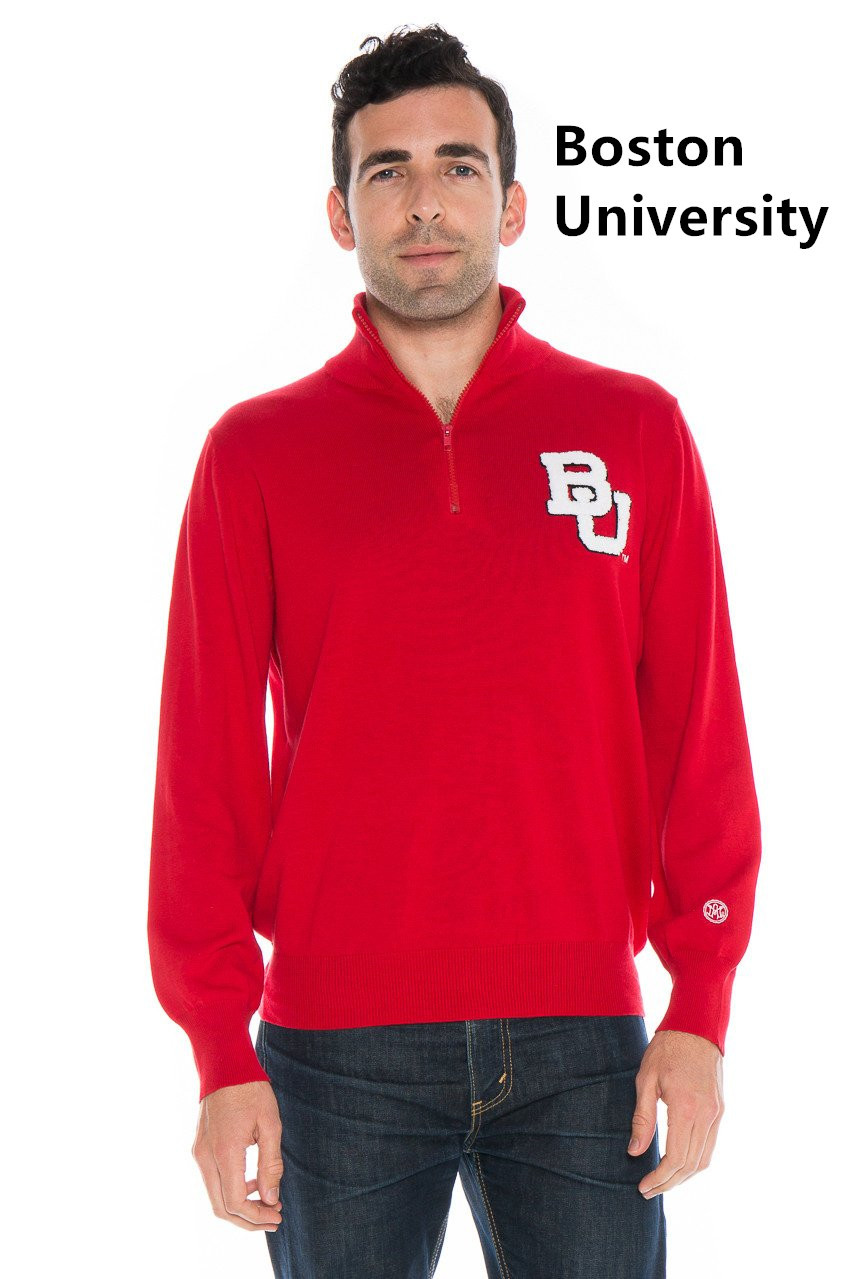 Man's Quarter Zip Sweater /licensed collegiate sweater