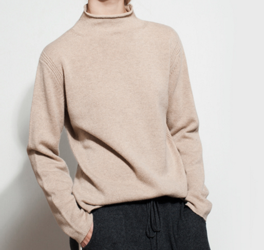 New stylish pure cashmere turtle neck casual sweater