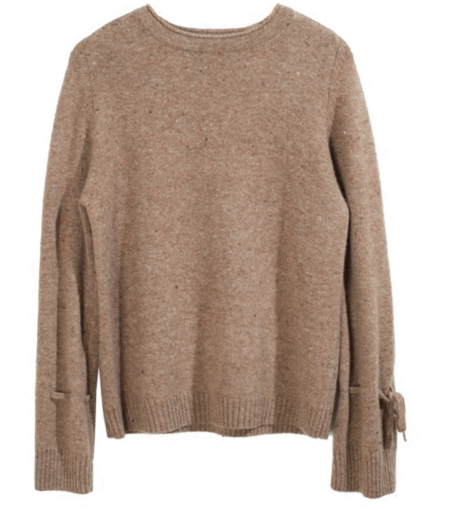 New stylish pure cashmere round neck casual sweater pullover