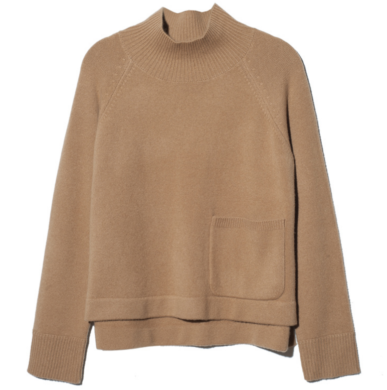 Fashionable thick pure cashmere Woman's Turtle neck sweater