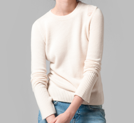 Fashionable thick 100%cashmere Round neck casual sweater