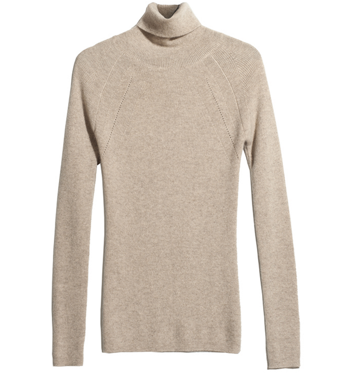 Cashmere Turtle neck L/S knitted sweater pullover