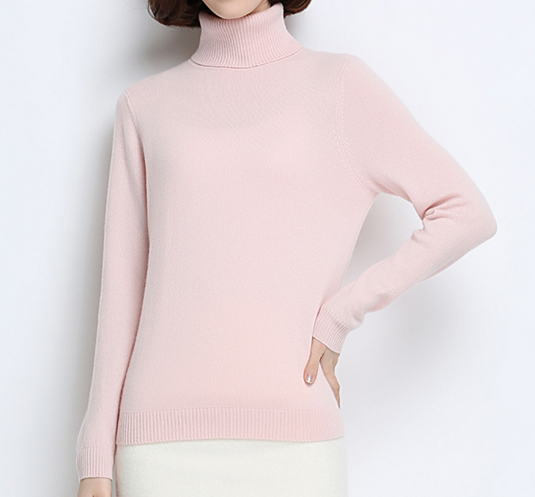 Fashion Casual Cashmere Turtle Neck Sweater