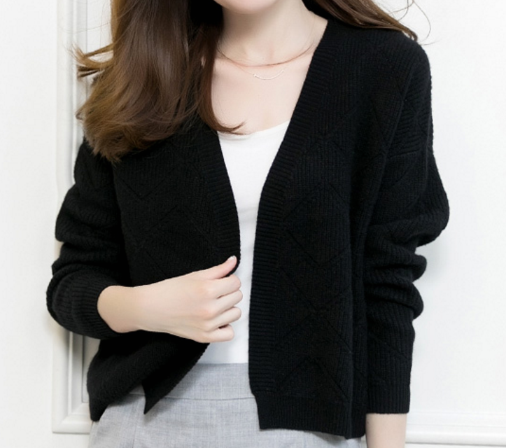 Fashionable Pure Cashmere V Neck Cardigan Sweater
