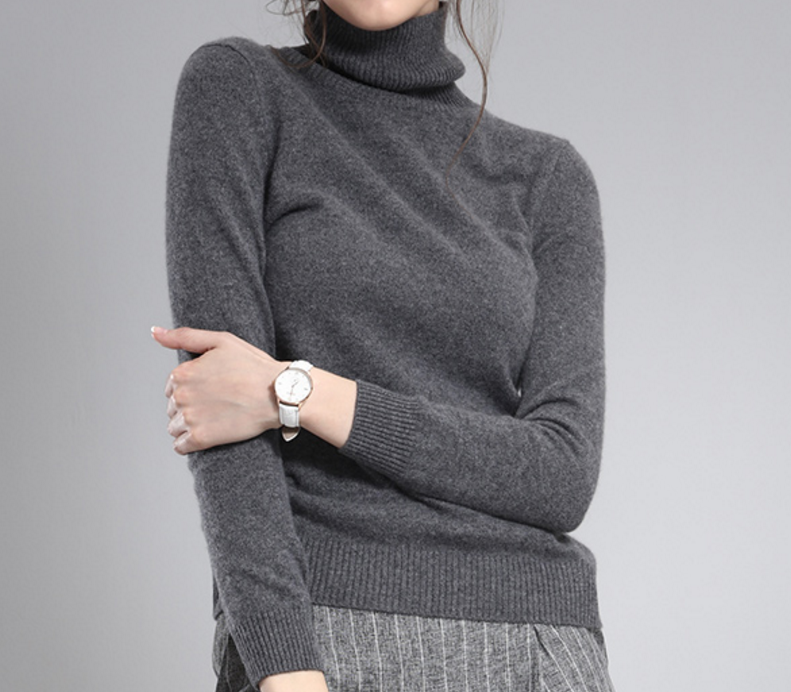 New products confortable Pure Cashmere Solid Color sweater