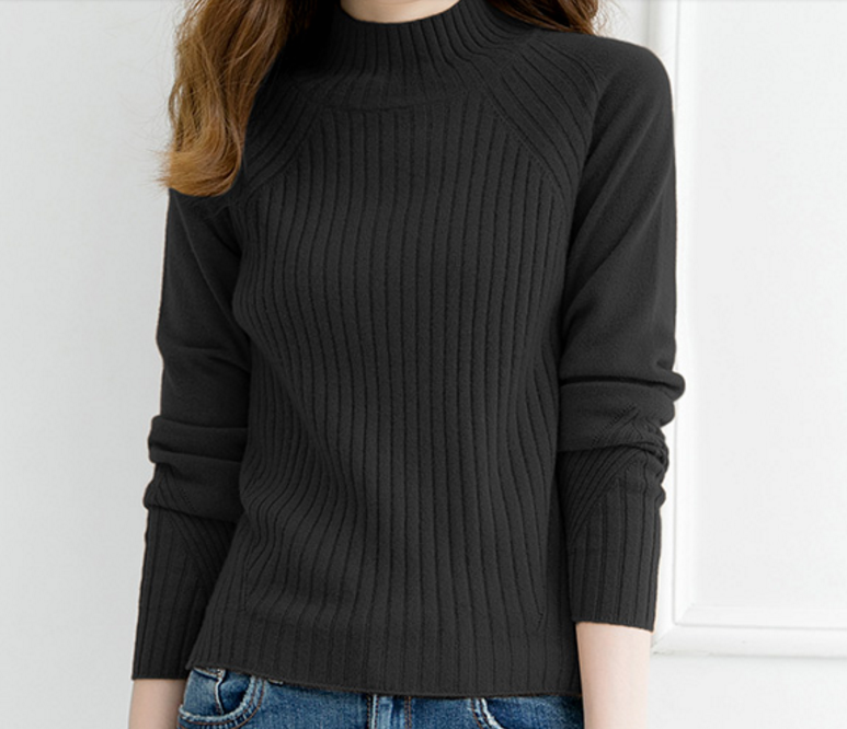 New products comfortable Pure Cashmere Turtle neck Pullover