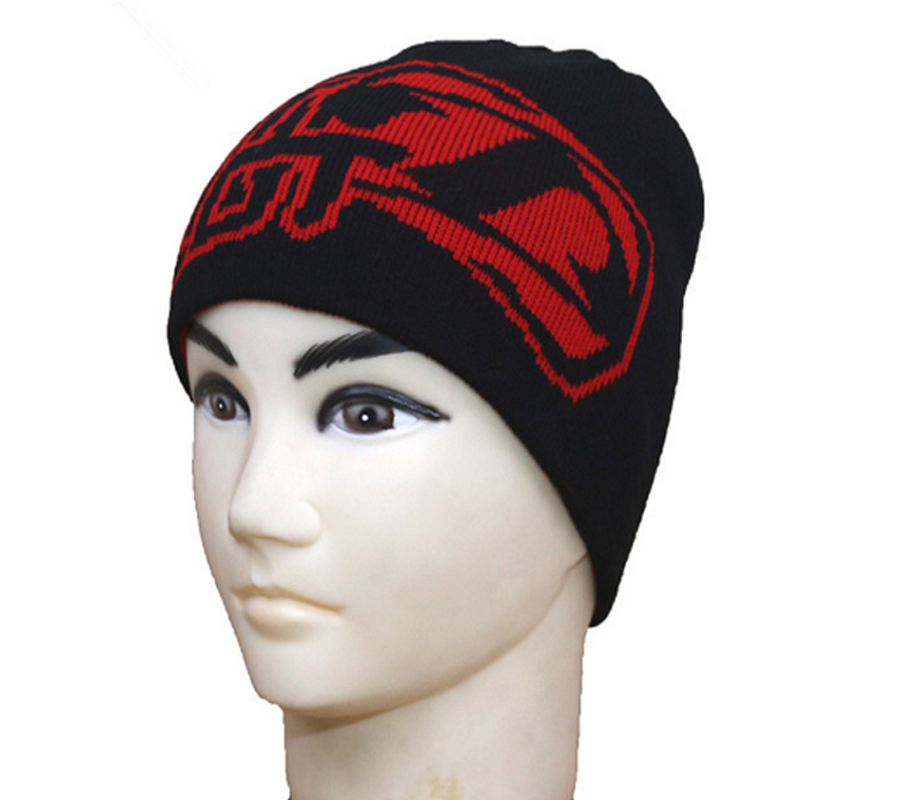 New design jacquard warmly men's cotton knit cap for winter