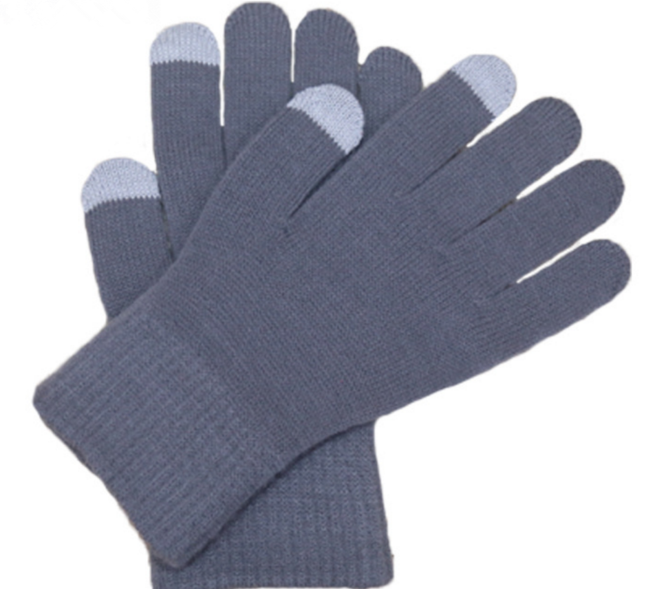 Solid Colors Wholesale Winter Warm Classical Knitted Gloves