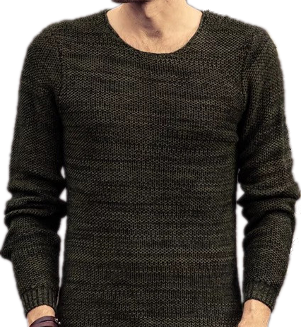 Casually Cotton Long Sleeves Men's sweater pullover