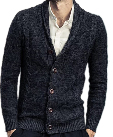 Warmly Acrylic Men's cardigan sweater