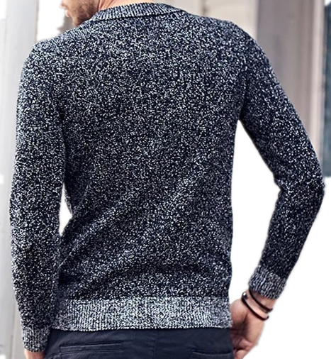 Warmly Acrylic Men's crew neck pullover sweater