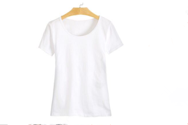 High Quality Plain White Slim Fit Custom Design T Shirt