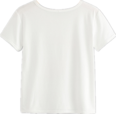 New Trendy T Shirt Screen Printed Organic Cotton in White