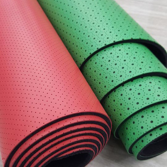 PU - natural rubber yoga mat - punching