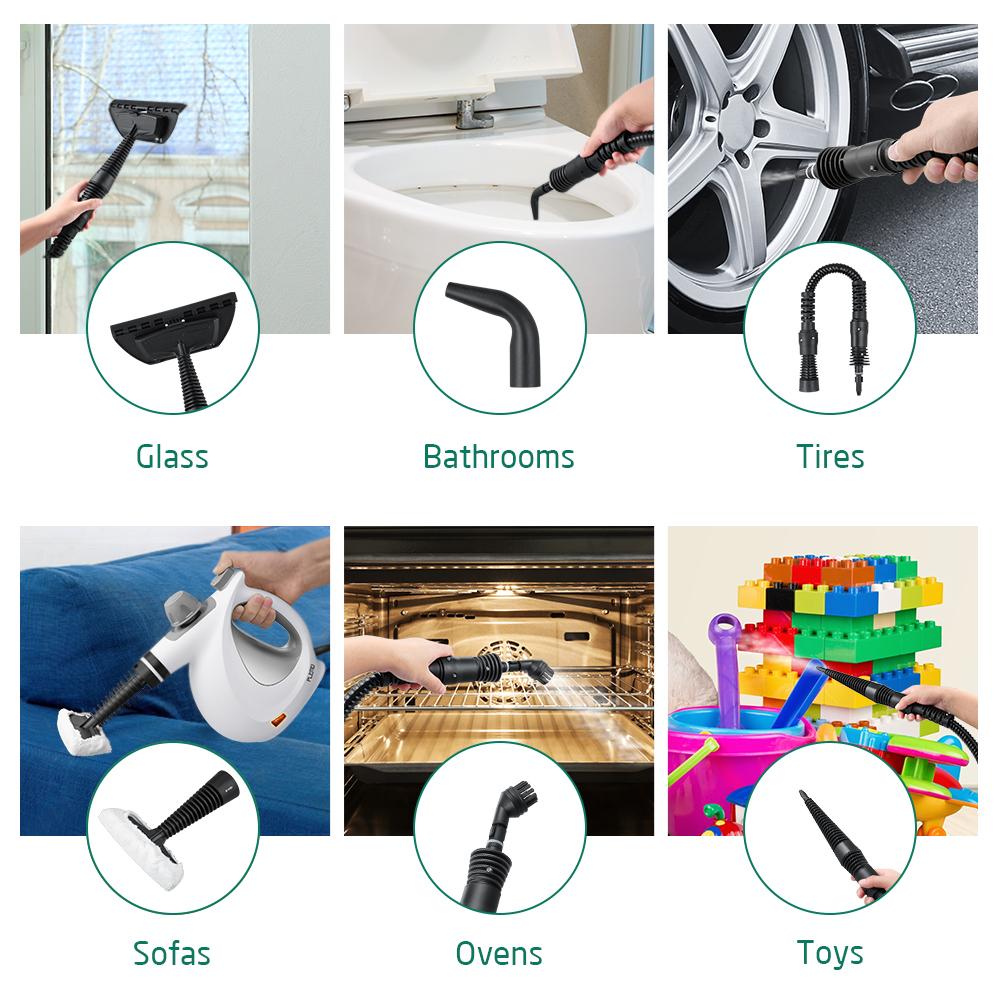 dampfreiniger handdampfreiniger mit sicherheitsschalter 9 aufs tzen reinigt und. Black Bedroom Furniture Sets. Home Design Ideas