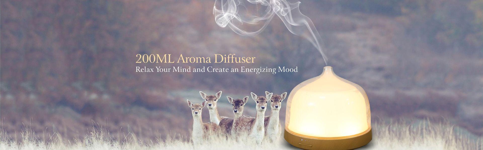 400mL Wood Grian Aroma Diffuser Mini Humidifier