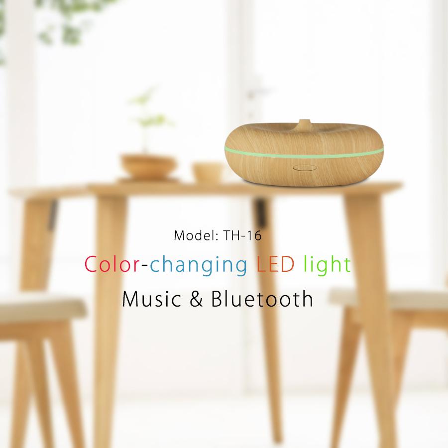 400ml bluetooth music aroma diffuser wood grain