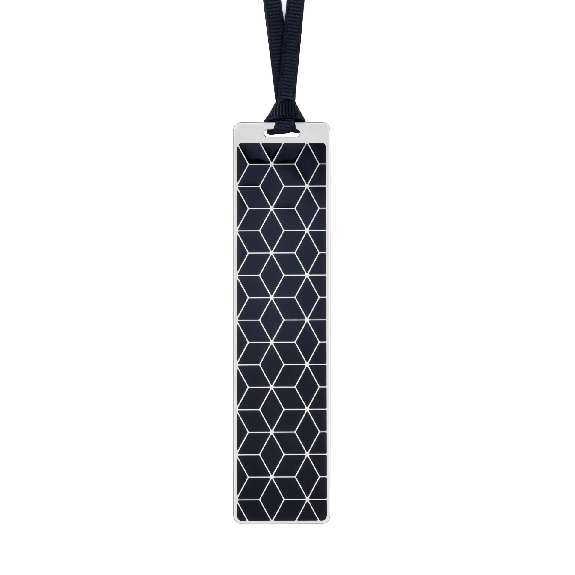 Silver frame black bookmark BK17016S