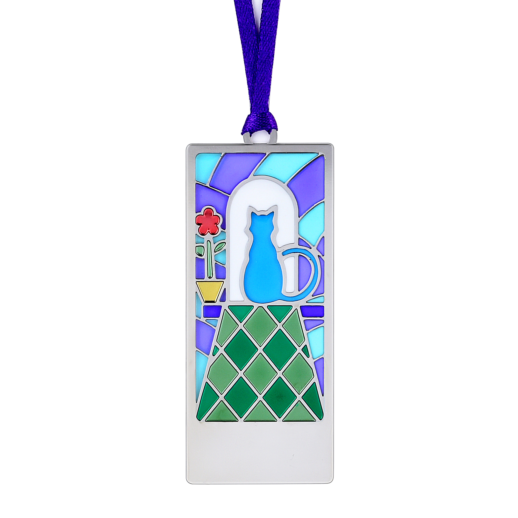 Silver frame color bookmark BK17033S-S
