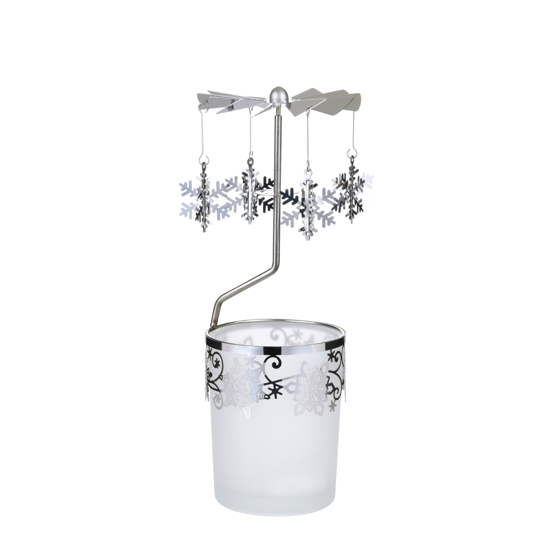 Rotating glass candlestick SS17148S