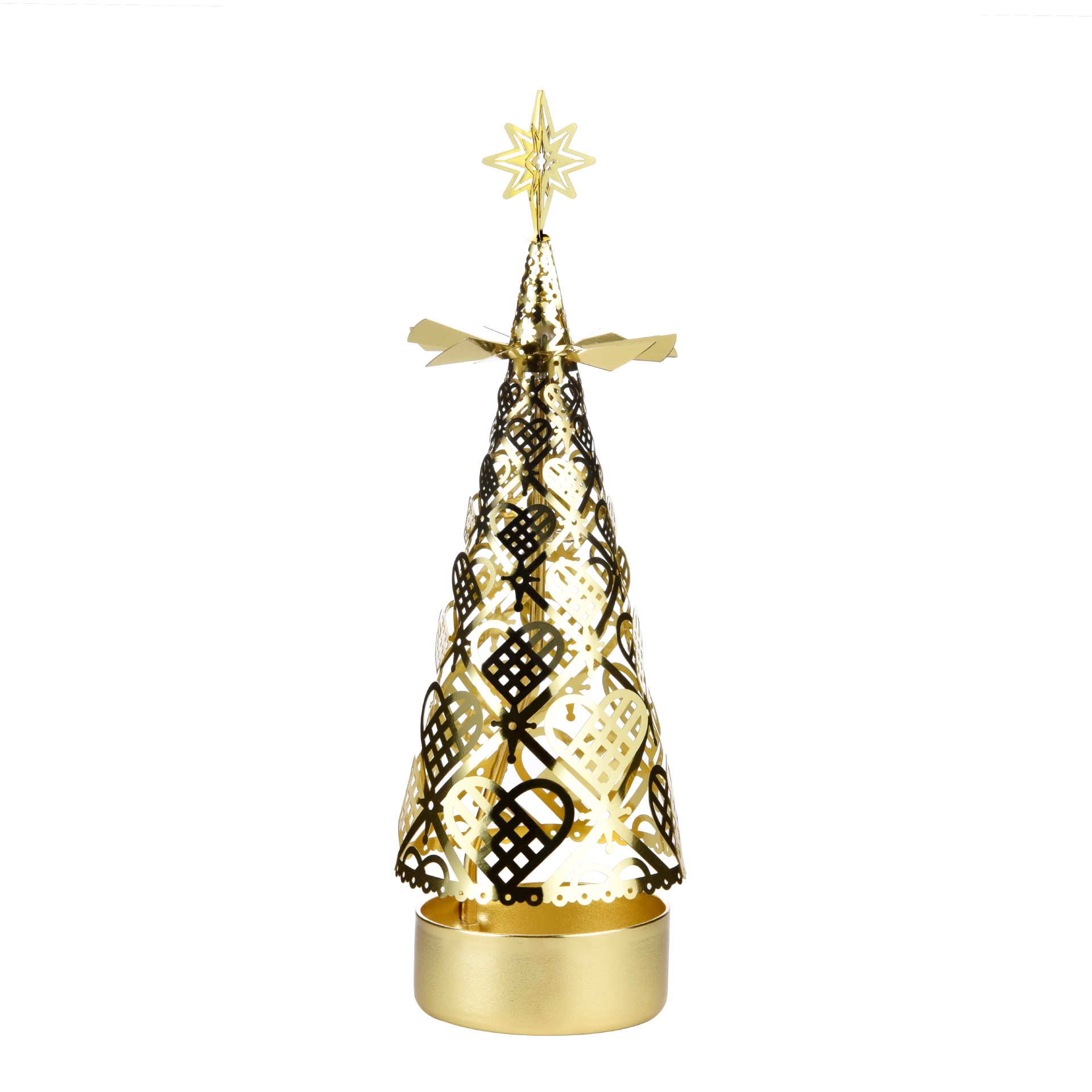 Christmas tree rotating candlestick SS17175B