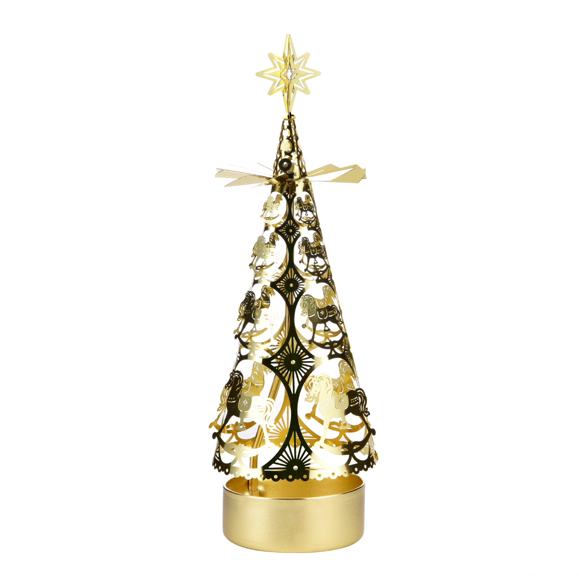 Christmas tree rotating candlestick SS17177B