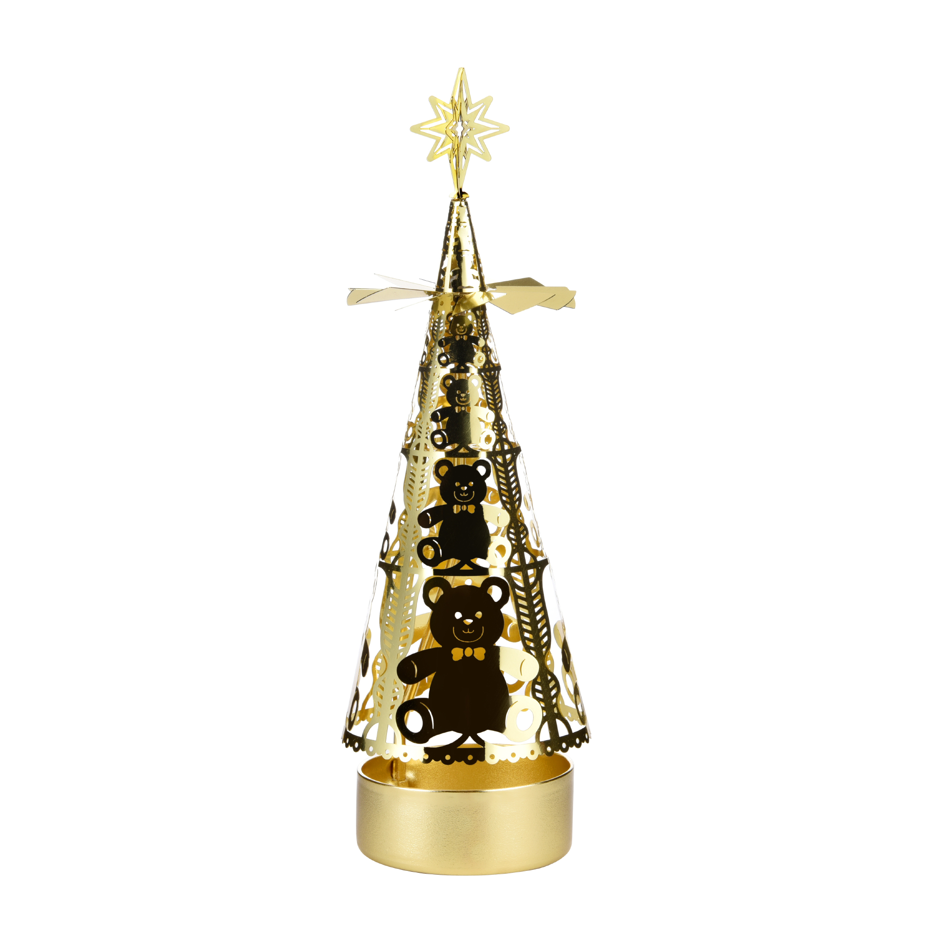 圣诞树旋转烛台 SS17178B