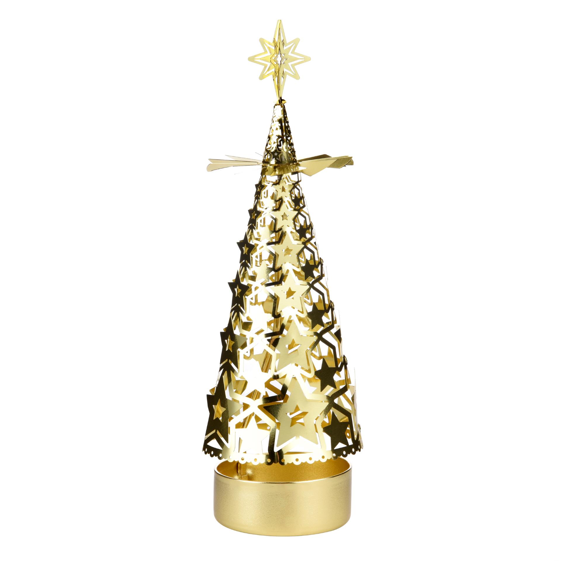 Christmas tree rotating candlestick SS17179B