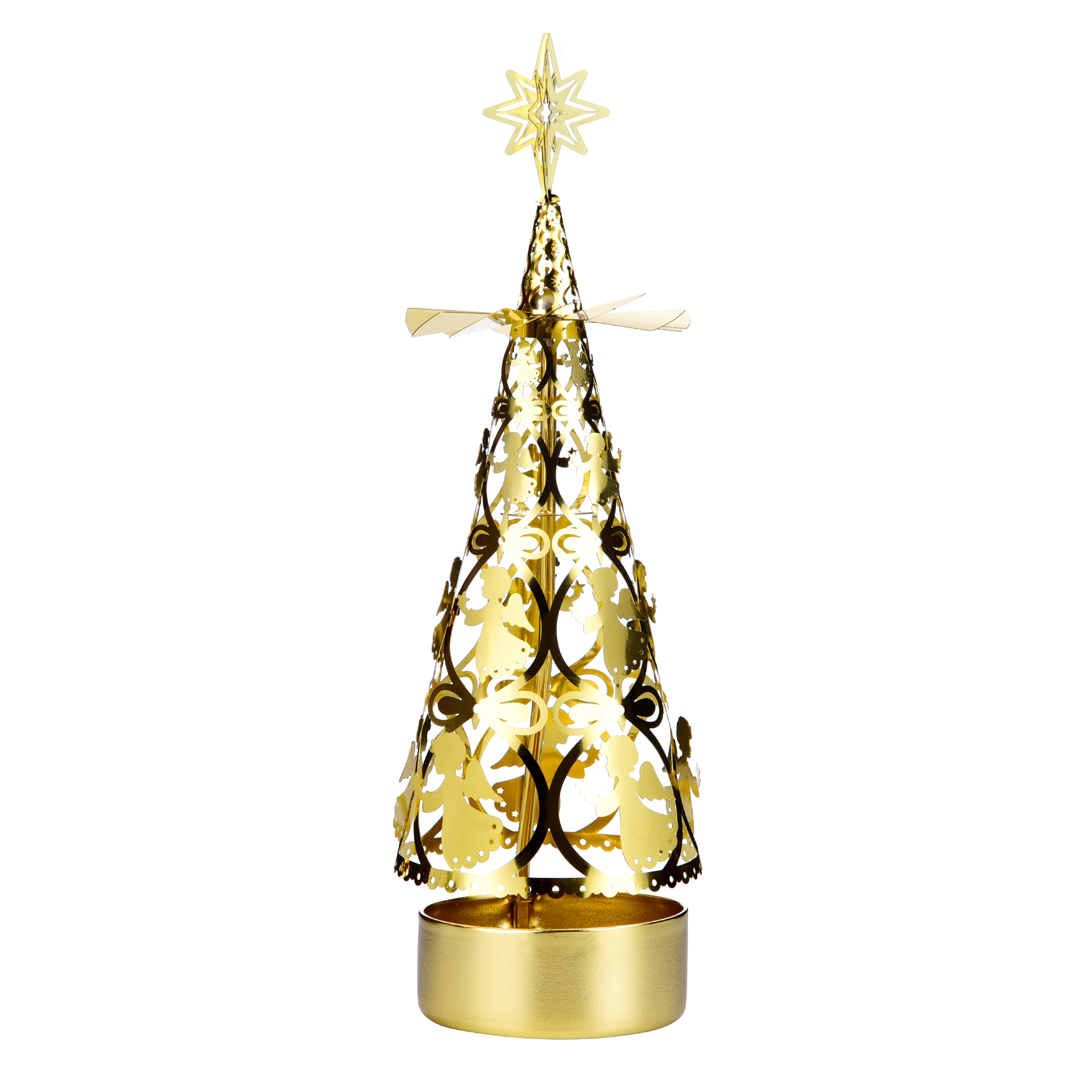 Christmas tree rotating candlestick SS17181B