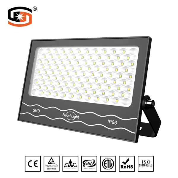 NEW Developed 100W LED flood light Black