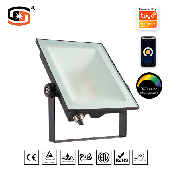 60W RGB led flood light with tuya smart