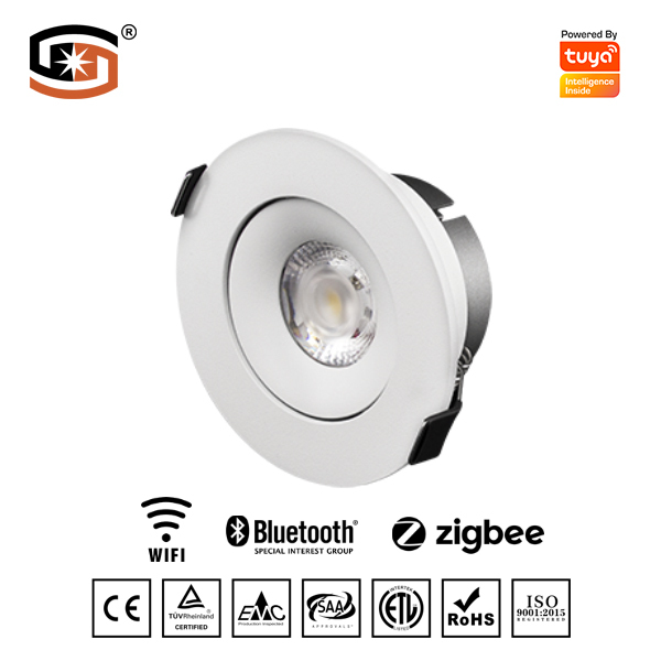 Untra-thin LED downlight with Tuya smart control