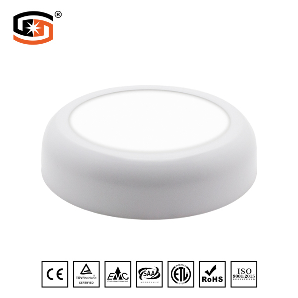 Arc-angle round led panel light
