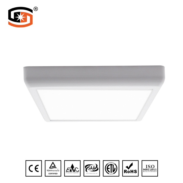 Arc-angle square led panel light