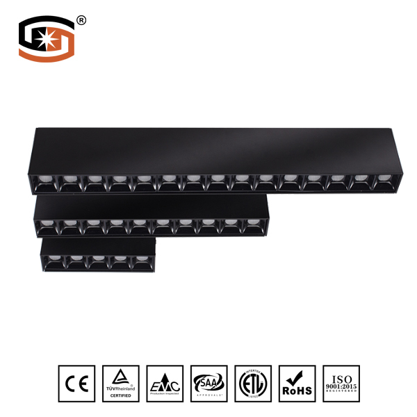 LED surface mounted 30W Black finish
