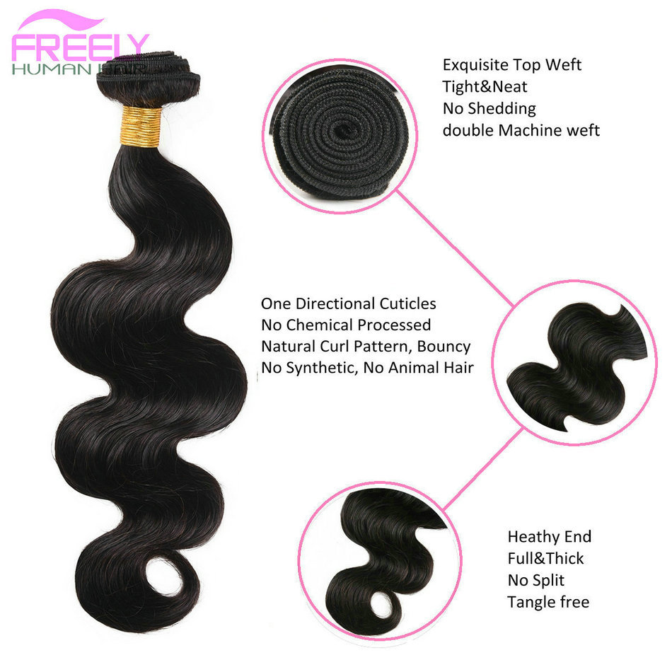 16 18 20 inch 10A Remy Human Hair Extensions Body Wave Human