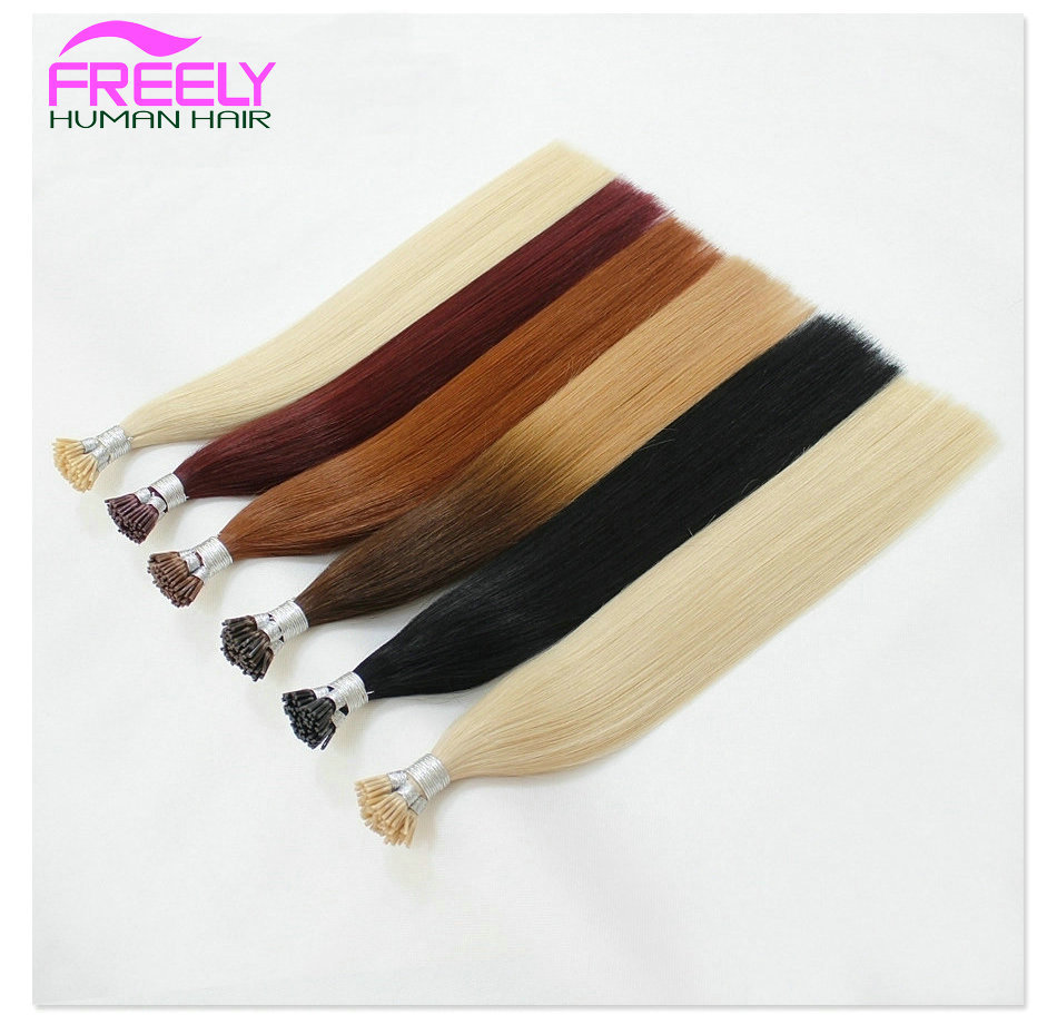 20 Inch 100Strands Stick I- Tip Keratin Remy Hair Extensions