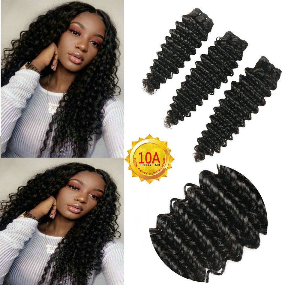 14 16 18 inch Deep Wave Virgin Remy Unprocessed Human Hair 3