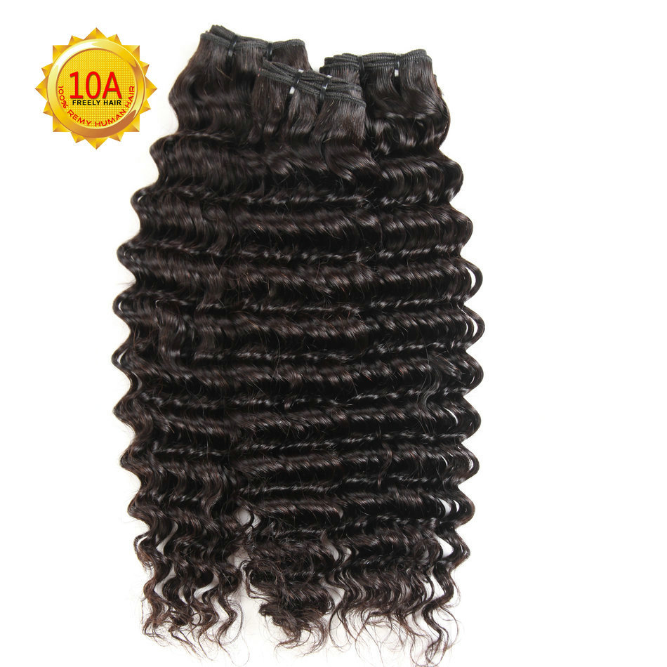 24 26 28 inch 10A Remy Human Hair Extensions Deep Wave Unpro