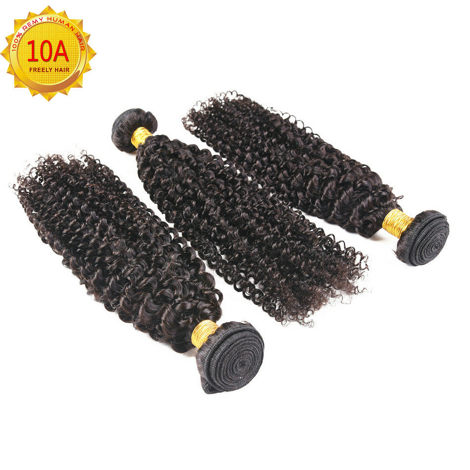 "12""14""16""  Kinky Wave Unprocessed Virgin Human Hair 3 Bundle"