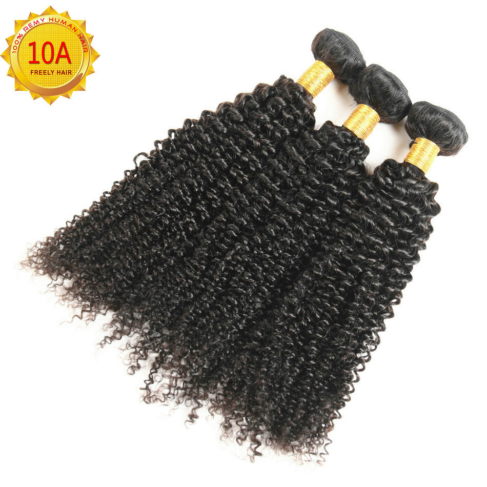 "18"" 20"" 22"" Kinky Wave Unprocessed Virgin Human Hair 3 Bundl"