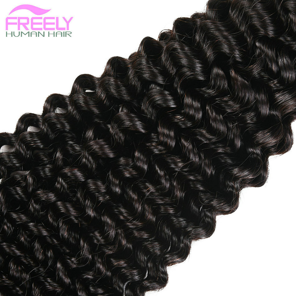 "24""26""28""Kinky Wave Unprocessed Virgin Human Hair 3 Bundles"